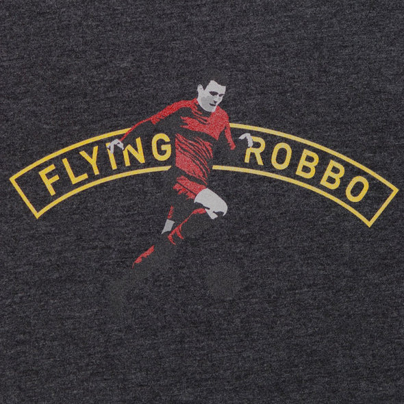 Flying Robbo charcoal t-shirt