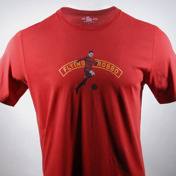 Flying Robbo red t-shirt