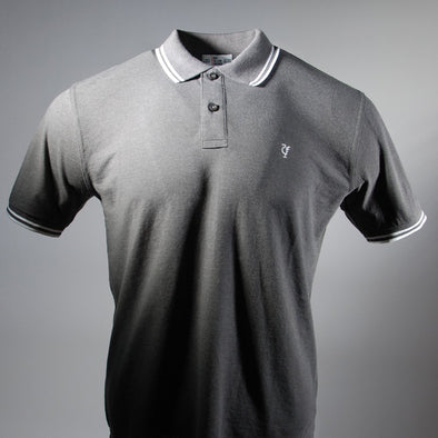 Scouse 77 Polo Charcoal/White