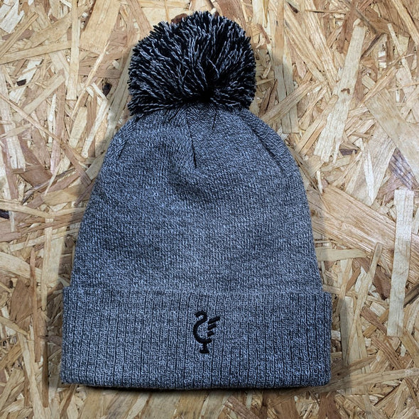 Scouse 77 bobble hat grey/black