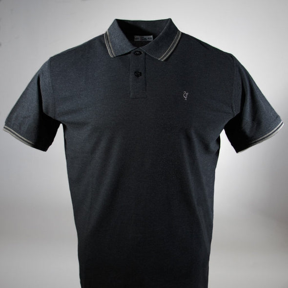 Scouse 77 Polo Charcoal/Grey