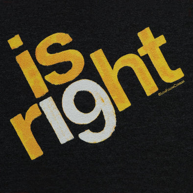 Is Right 19 charcoal t-shirt