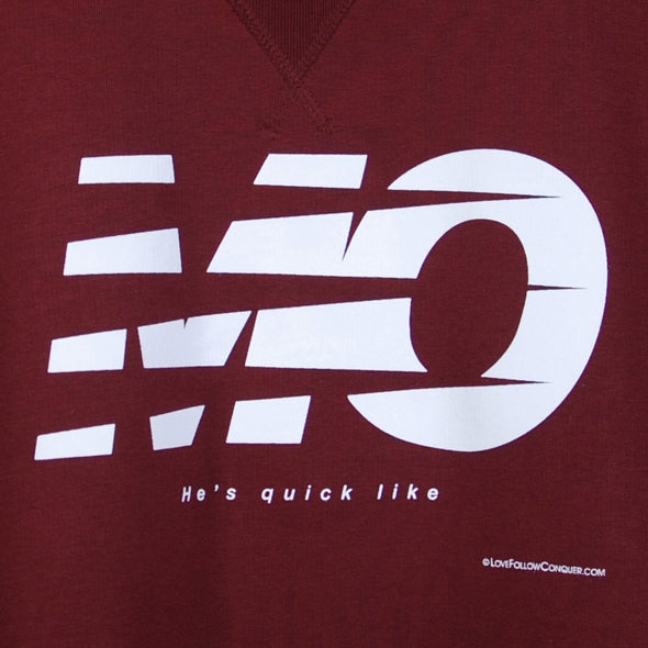 Mo L'pool burgundy sweatshirt