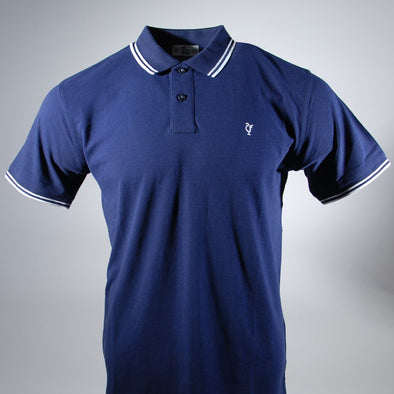 Scouse 77 Polo Navy/White