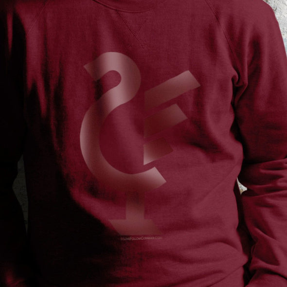 Subtle Graphic of Our Bird on Red Sweatshirt
