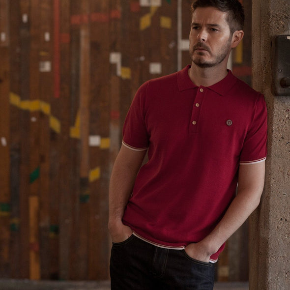 100% cotton fine knit red polo LFC inspired