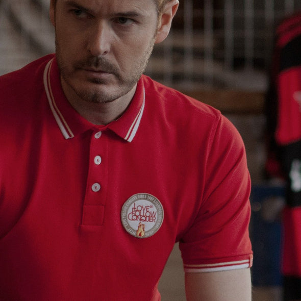 Liverpool FC inspired red Rome 77 polo shirt