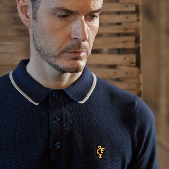 Scouse 77 Polo Knit Navy