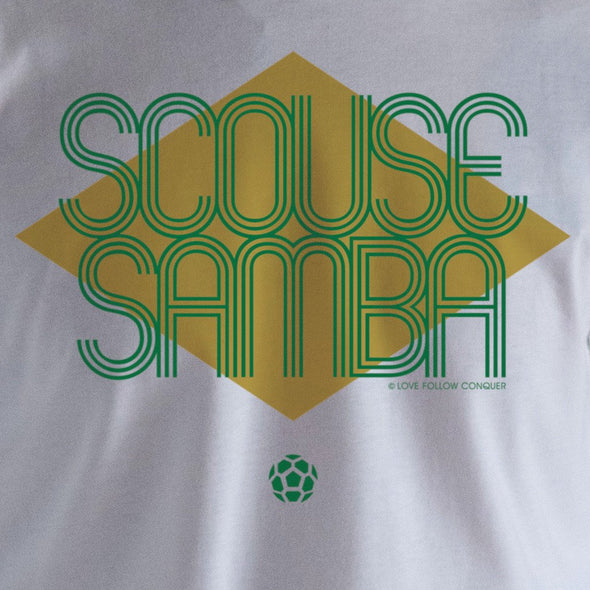 Scouse Samba t-shirt Love Follow Conquer