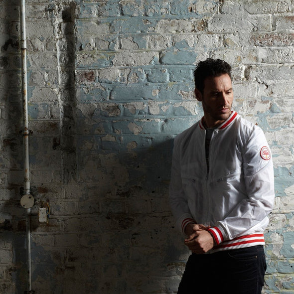 Shankly inspired track jacket in white