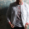 Shankly white track jacket Love Follow Conquer