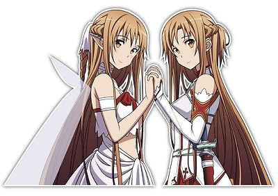 Sword Art Online Asuna Anime Car Decal Sticker 015, Anime Graphics Vinyl Stickers Decals Wrap For Cars Bumper, Anime Stickery, Anime Stickery Online