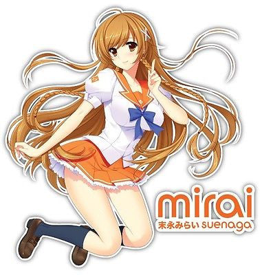 Mirai Suenaga Anime Car Window Bike Decal Sticker 004, Anime Graphics Vinyl Stickers Decals Wrap For Cars Bumper, Anime Stickery, Anime Stickery Online