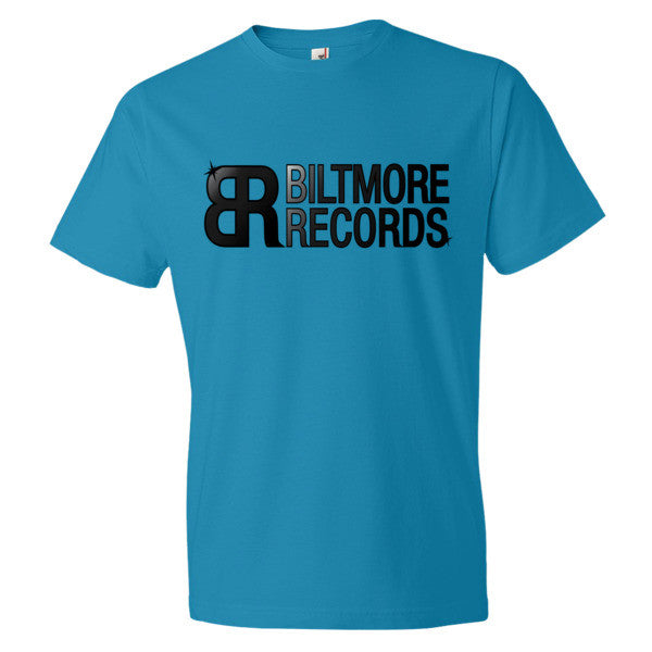 "Biltmore Records ""Classic"" Men's short sleeve t-shirt (Panthers Colors)"