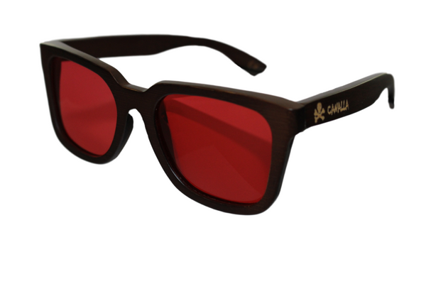 WOOD SUNGLASSES / GAFAS MADERA CANALLASTYLE WOOD RED POLARIZED