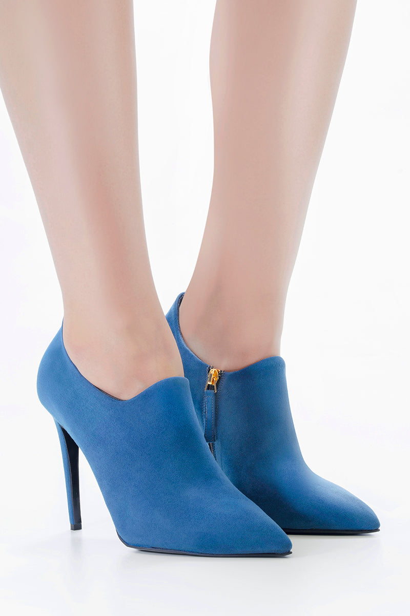 SHADES OF BLUE ANKLE BOOTS