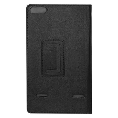 online store 51585 b4dcc Acm Executive Case & Tempered Glass Combo for Micromax Canvas Tab P681 Flip  Cover Screen Guard Black