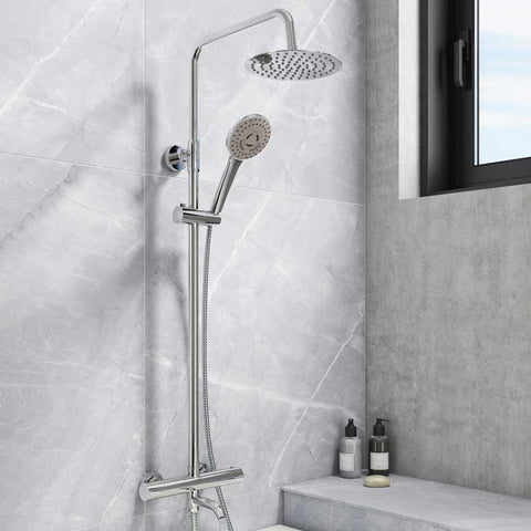 Santana Round Bath Filler Shower