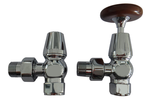 Traditional Chrome Angled Valves