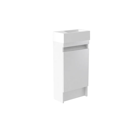 Ikon White 400 Cloakroom Freestanding Basin Unit