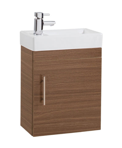 Walnut Cube Wall Hung Basin Unit
