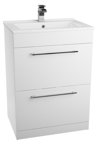 Idon White Freestanding Drawer Basin Unit