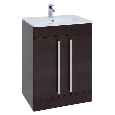 Purity Chestnut Freestanding 2 Door Basin Unit (3 Sizes)