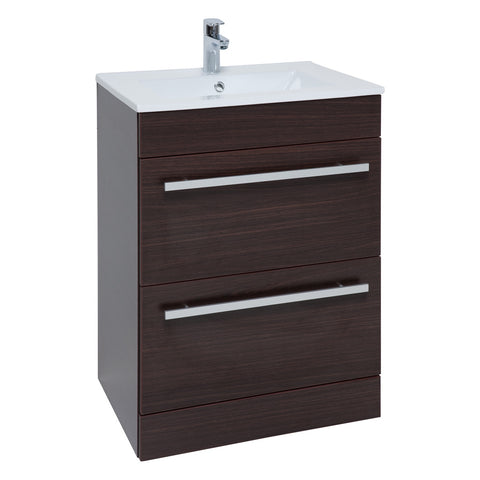 Purity Chestnut Freestanding Drawer Basin Unit (3 Sizes)