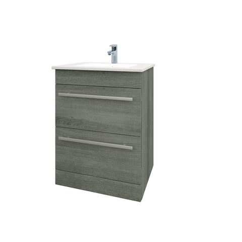 Purity Grey Ash Freestanding Drawer Basin Unit (3 Sizes)