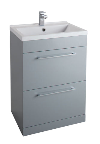 Idon Grey Freestanding Drawer Basin Unit