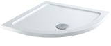 White quadrant corner shower tray