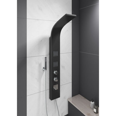 Luna Black Thermostatic Shower