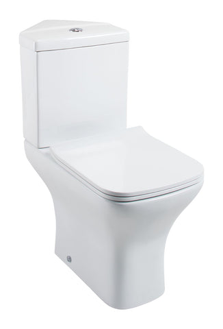 Fair Corner Close Coupled Toilet with Slimline Seat