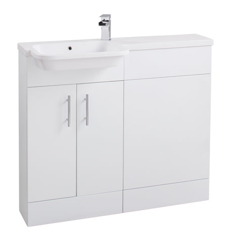 Semi Recessed basin unit (left hand)