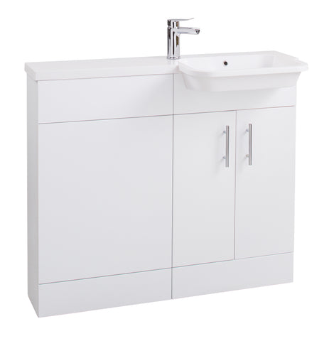 Semi Recessed basin unit (right hand)