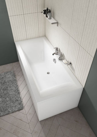 Lime Straight Double Ended Square Bath