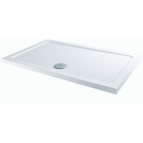 White rectangle shower tray