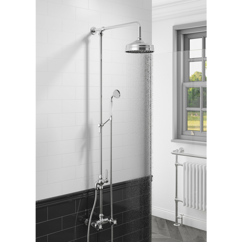 Damson | Traditional rigid riser Shower Kit + Shower valve