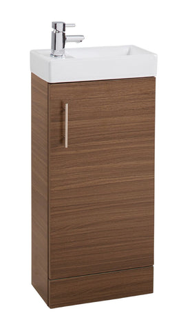 Walnut Single Door 400mm Cube Unit