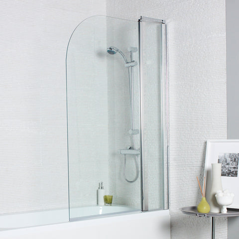 Koncept Curved Bath Screen with Extension Panel