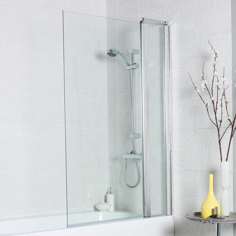 Koncept Square Bath Screen with Extension Panel