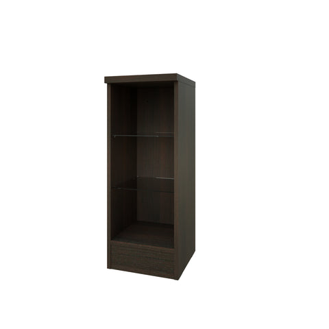 Purity Chestnut 300 Open Glass Shelf Unit