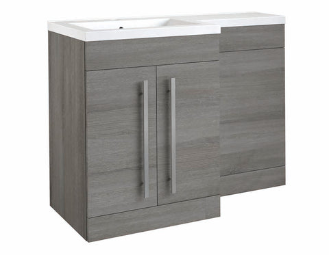 Matrix Grey Ash 2 Door L-Shaped Furniture - 1100mm