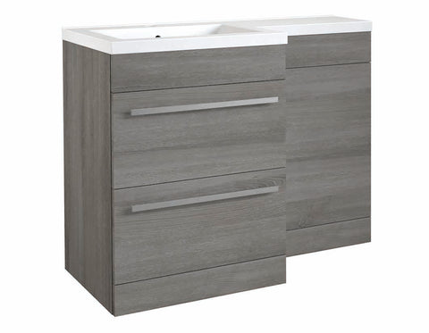 Matrix Grey Ash 2 Drawer L-Shaped Furniture - 1100mm