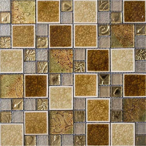 Leaf Gold Mosaic 30x30