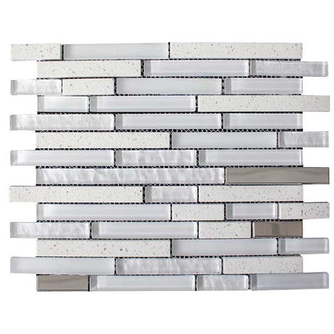 Quartz White Mosaic 30x30