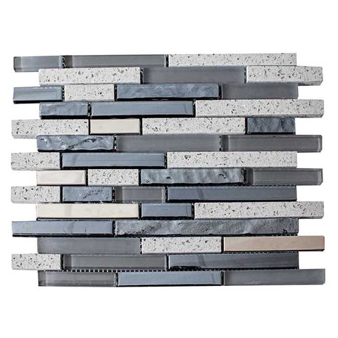 Quartz Grey Mosaic 30x30