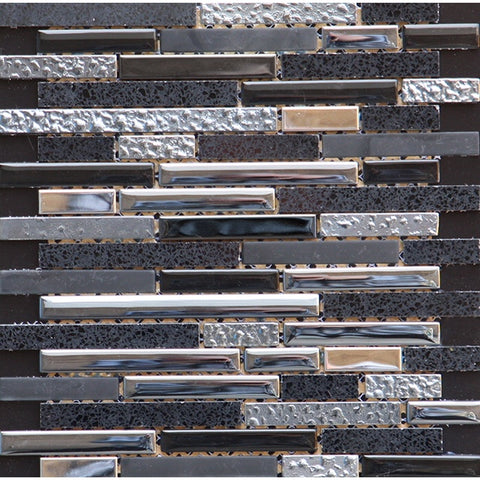 Quartz Black Mosaic 30x30