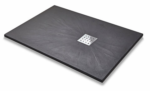 Slate Effect Rectangle Graphite Trays