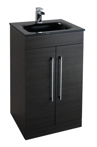 Idon Black Freestanding 2 Door Basin Unit